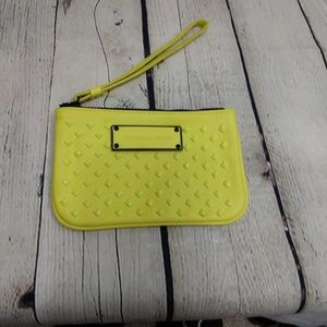 Neon Yellow & Neon Pink VS pleather clutch set